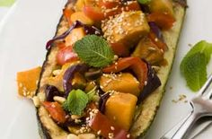 This stuffed marrow recipe is perfect as a side or main. It doesn't get much healthier and tastier than this veggie dish