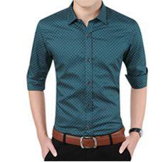 Homens camisas xadrez 2015 nova marca Turn down Collar dos homens Slim Fit camisa de manga curta impresso masculino camisa Social ocasional 5XL FHY453 em Camisas Casuais de Roupas e Acessórios - Masculino no AliExpress.com | Alibaba Group