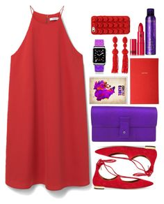 """""""COLOR AND COLOR CHIC"""" by licethfashion ❤ liked on Polyvore featuring MANGO, Gucci, Aquazzura, Kerastase, Lipstick Queen, Trademark Fine Art, Liberty, Oscar de la Renta, Casetify and Marc Jacobs"""