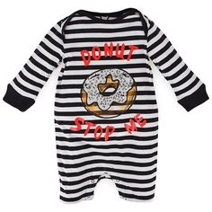 Stella McCartney Kids DoNut Stop Me Stripe Romper