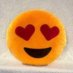 Hearts Emoji Pillow