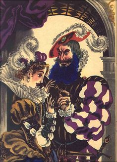 """Coilhouse » Blog Archive » Russian Illustrated """"Bluebeard"""" – Y'Know, For Kids!"""
