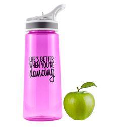 """Life's Better When You're Dancing"" Water Bottle - Style Number: FP037 #discountdance #danceteacher"