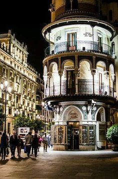 Sevilla Spain----so pretty at night walking from tapas bar to tapas bar Oh The Places You'll Go, Places To Travel, Places To Visit, Bósnia E Herzegovina, Madrid Barcelona, Spain Madrid, Voyage Europe, Cadiz, Spain And Portugal