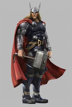 Thor, Hulk  Captain America Concept Art For THE AVENGERS Cancelled Video Game