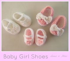 Lanas Hilos: BABY GIRL SHOES