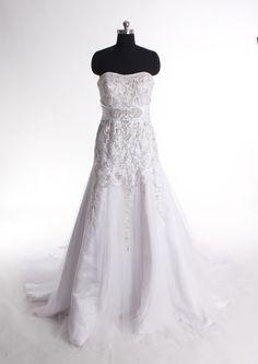 Sweetheart trumpet/mermaid net bridal gown