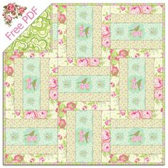 Heather Bailey's Garden District - Free Quilt Pattern + How to Quilt-As-You-Go QAYG
