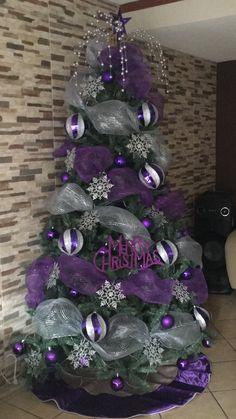 christmas tree drawing Navidad Purple Christmas Tree Decorations, Ribbon On Christmas Tree, Holiday Tre. Purple Christmas Tree Decorations, Elegant Christmas Trees, Creative Christmas Trees, Silver Christmas Tree, Ribbon On Christmas Tree, Christmas Tree Design, Noel Christmas, Holiday Tree, Xmas Tree