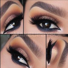 Tuesday look @makeupbysol ......... Eyes: French Manicure Pigment by @makeupaddictioncosmetics .......... Brows: #anastasiabeverlyhills .............. Lashes: #eyelureofficial ........... Free Shipping Ends this week On orders over £26 #makeupaddictioncosmetics #maddpigments