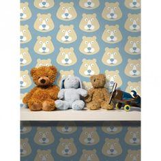 Lavmi kinderbehang Retro beren blauw