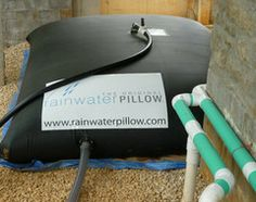 Take a look at this innovative rainwater harvesting system http://www.rainwaterpillow.com They build custom size pillows that go under decks, crawl spaces or any horizontal wasted space. Complete kits with filtration, pump, storage and fittings for irrigation, toilet flushing, washing, watering