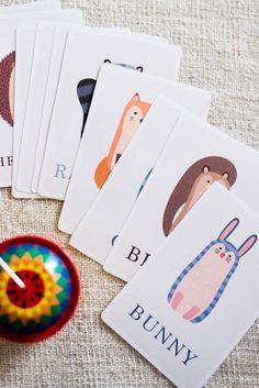 Illustrated Woodland Flash Cards for Toddler. Free Download. Animal Flashcards, Flashcard download, Freebie, Woodland Animals, DIY, Printable