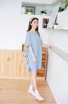 Korean fashion cotton casual dress - AddOneClothing - 2