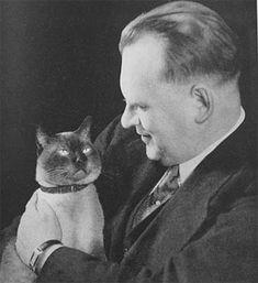 alekhine (aljechin) en zijn kat 'chess'