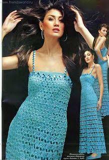 DE MIS MANOS TEJIDOS Y MAS...: Lindos vestidos con esquemas