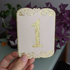 Table number style for an upcoming wedding. Gold glitters is always so pretty! Wedding Gold, Personalized Stationery, Table Numbers, Paper Goods, Glitters, Gold Glitter, Pretty, Photos, Instagram