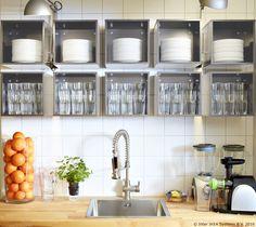 Zidni elementi štede prostor, a FÖRHÖJA elemente možeš rasporediti po svojem ukusu i tako dati svoj kreativan doprinos u kuhinji. :) www.IKEA.hr/FORHOJA_zidni_element