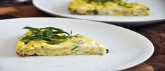 Desayuno saludable de calabacines y champiñones