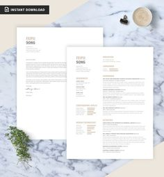 Bundle: Resume/CV Cover Letter Portfolio Template by JFAYCo