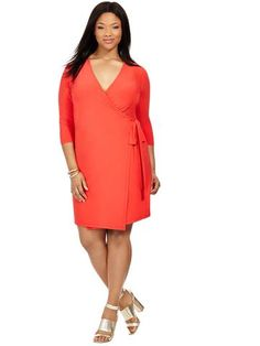 20ab593e4fbdf Plus Size XTWO Harbour Dress In Carmine Red Hourglass Fashion