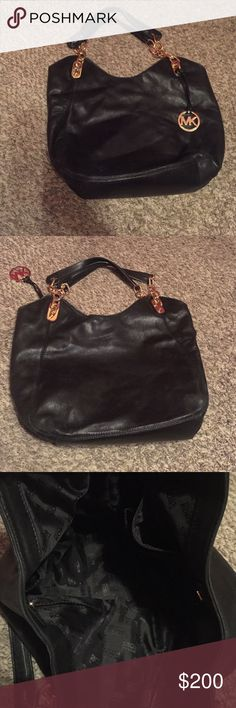 Michael Kors Leather Bag Michael Kors genuine leather bag ! Soft leather some scratches from normal wear. Michael Kors Bags