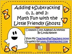 Six activities for adding 0, 1, and 2 to numbers from 1-20. Common Core aligned for kindergarten and first grade.  $