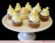 duckie baby shower cup cakes