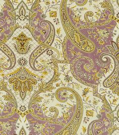 Home Dec Print Fabric-Waverly Lyrical Legend Plum