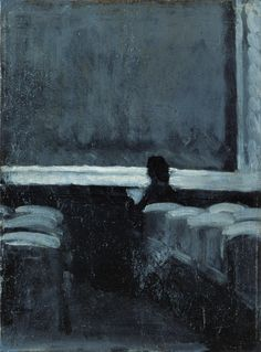 Solitary Figure in a Theater, c.1902-04. Edward Hopper. Oil on board. Kafka's Apartment