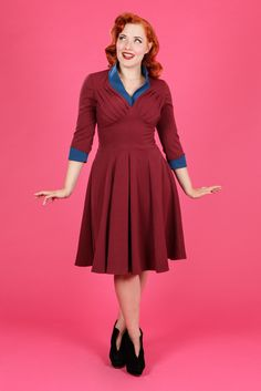 Yolanda-Bo - Two tone swing dress