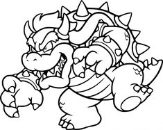 Print Out This Mario Bros Bowser Coloring Page Fo Real Tell