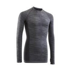 info for 3008d d3c2b Tee shirt manche longue de running homme kiprun skincare bleu turquoise  kalenji kalenji