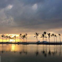 Sunset at Anaehoʻomalu Bay - Big Island, Hawaii, USA