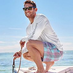 "These are a few of the words that come to mind with the 2015 Dockside Swim Trunks by Southern Marsh. After you try them on, you'll just be thinking,""I'll have another."" So have another, shop link in bio. Preppy Men, Preppy Style, Der Gentleman, Preppy Outfits, Preppy Fashion, Swimming Outfit, Southern Marsh, Team Shirts, Dress For Success"