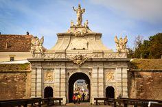 Gate of the Alba Carolina Fortress in Alba Iulia, Romania