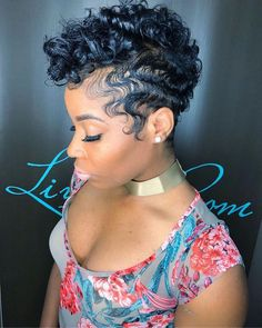 Wavy Curly Mohawk b Dope Hairstyles, Cute Hairstyles For Short Hair, Curly Hair Styles, Natural Hair Styles, Curly Mohawk Hairstyles, Short Curly Mohawk, Korean Hairstyles, School Hairstyles, Straight Hairstyles
