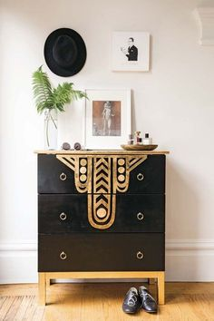 DIY Art Deco Dresser from Make It Yours (Book) by Yellow Owl Workshop's Christine Schmidt | Poppytalk
