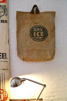 old canvas bag