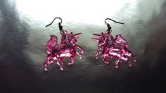 Unicorn Earrings / Transparent Unicorn by MadeWithUnicorns on Etsy
