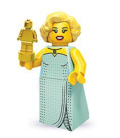 LEGO Minifigures Series 9 Hollywood Starlet - Love love love! She looks just like Marilyn Monroe!