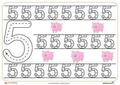 Numbers Preschool, Preschool Worksheets, Writing Numbers, Kids Education, Kids Learning, Homeschool, Classroom, Teaching, Crafts