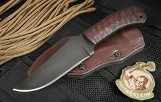 The Winkler Belt Knife is one of Winkler's most popular models. This configuration comes with sculpted maple handle and a caswell blade finish. Daniel Winkler has taken is bladesmithing knowledge, recognizable design and input from the military community when he developed the Belt Knife. The blade on the Winkler fixed blade is black caswell coated 80CRV2 carbon steel. The drop point blade shape and the flat grinds provide excellent cutting ability in the form of edge retention and toughness…