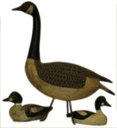 Vintage wooden duck decoys