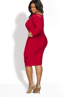Monif c red dress casual