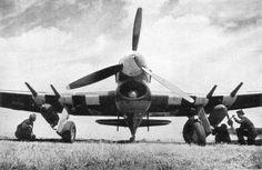 Typhoon:  - Fabricante: Hawker  - País: Inglaterra  * Caça de grande importância em ataques a solo, muito útil na invasão à Normandia, graças à seus canhões.