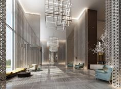 Here are some of the best hotel lobby ideas in different styles for you to get inspired and to choose the best one. #hotel #lobby #design #ideas | see more inspiring images at www.delightfull.eu
