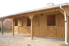 small stalls for horses | Build a Barn: The Heartland 6-Stall Horse Barn | Plans for Barns