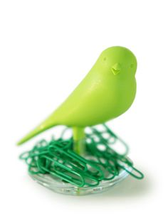 Happy Bird Paper Clip Holder