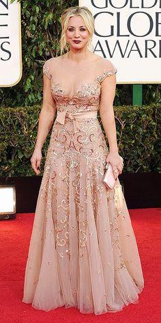 Kaley Cuoco at Golden Globes 2013